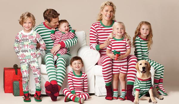 These family pjs are from Hanna Anderson