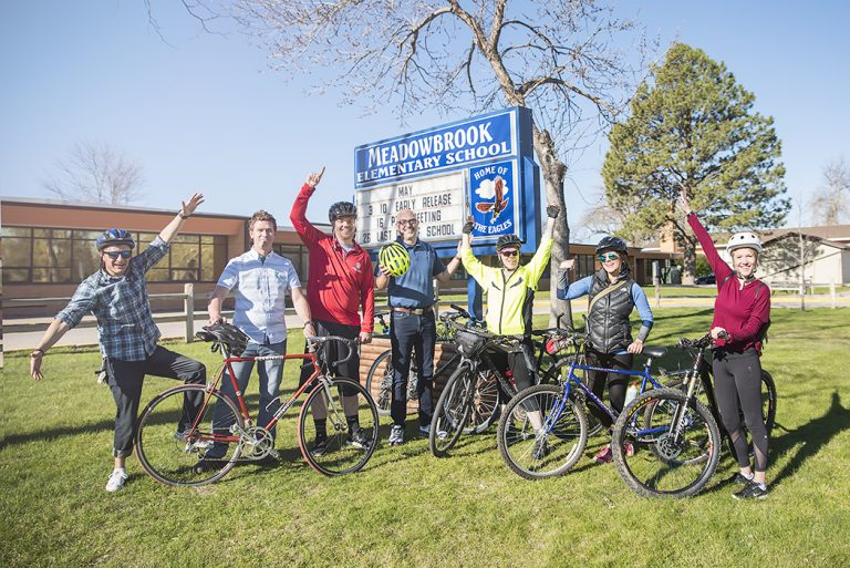 EGM Staff Biking to School