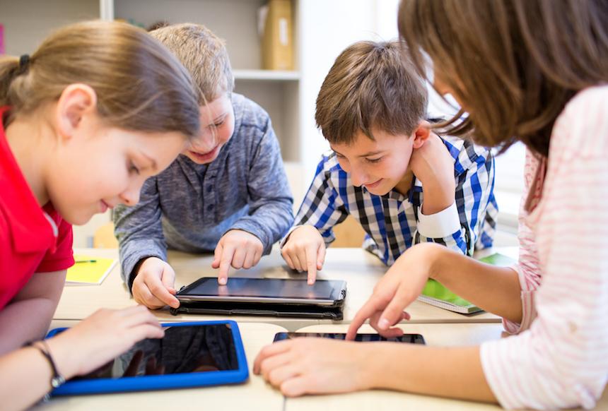 Kids on iPads